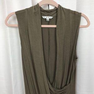 CAbi Tops - CAbi Brown Sleeveless Knit Wrap Top Sz.L
